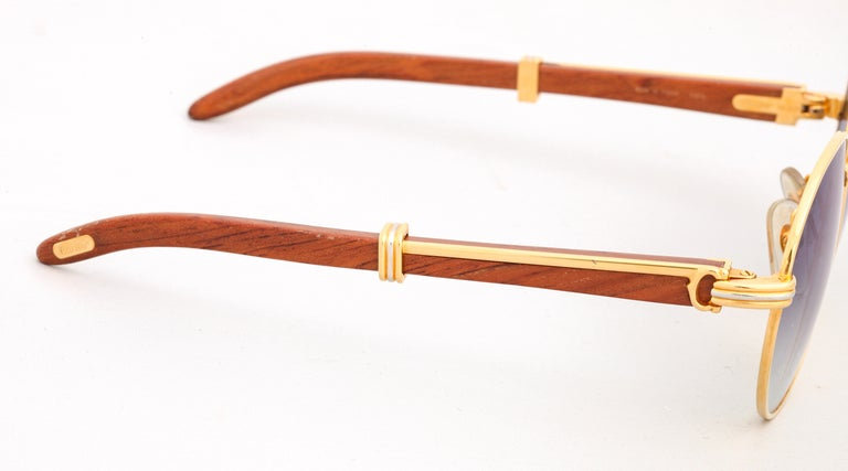 Cartier Bagatelle Palisander Sunglasses In Good Condition In Chicago, IL