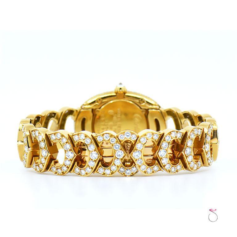 Cartier Baignoire 18k Original Diamond with Rare Logo Bracelet Watch, Ref. 1954 For Sale 3