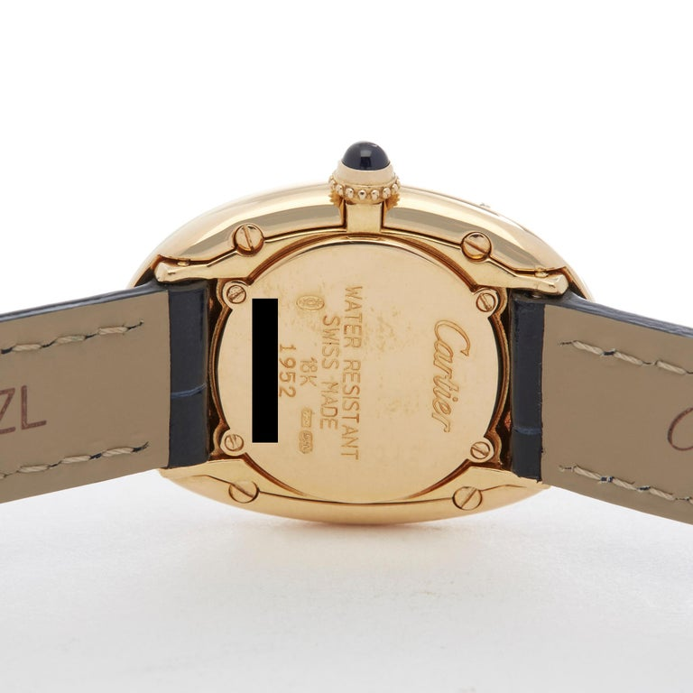 Cartier Baignoire 18 Karat Yellow Gold W1506051 or 1952 For Sale 2