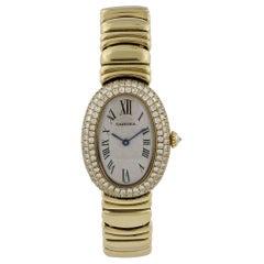 Cartier Baignoire 1950 18 Karat Yellow Gold Ladies Watch