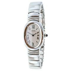 Cartier Baignoire 1955 18k White Gold Quartz Ladies Watch Box