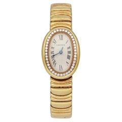 Cartier Baignoire 1960 18K Yellow Gold Diamond Ladies Watch
