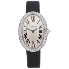 Cartier Baignoire 3065 Ladies White Gold Diamond Watch