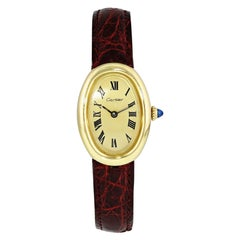 Cartier Baignoire 7743 Yellow Gold Watch