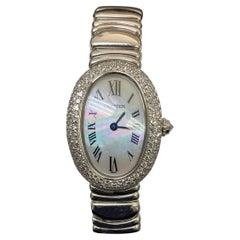 Cartier Baignoire Diamond White Gold Wristwatch