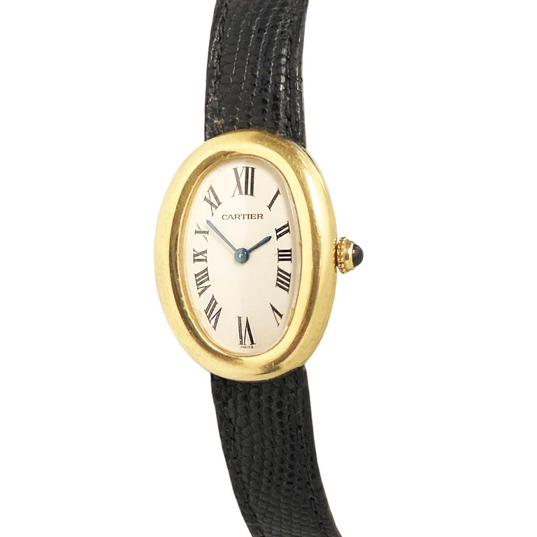 Cartier Baignoire Gold Wrist Watch Owned and Worn by Jerry Lewis In Excellent Condition For Sale In Chicago, IL