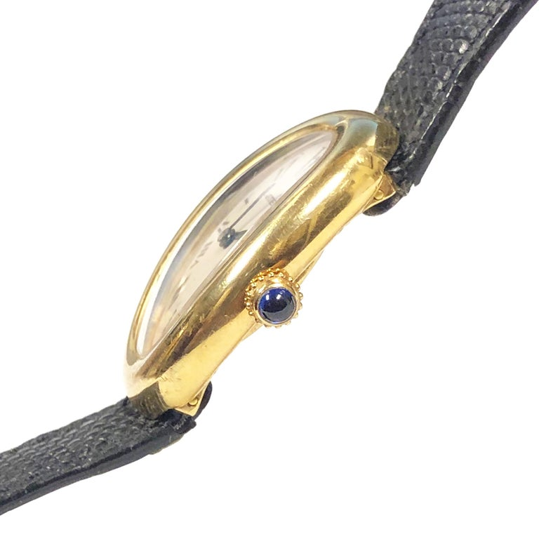 Women's or Men's Cartier Baignoire Gold Wrist Watch Owned and Worn by Jerry Lewis For Sale