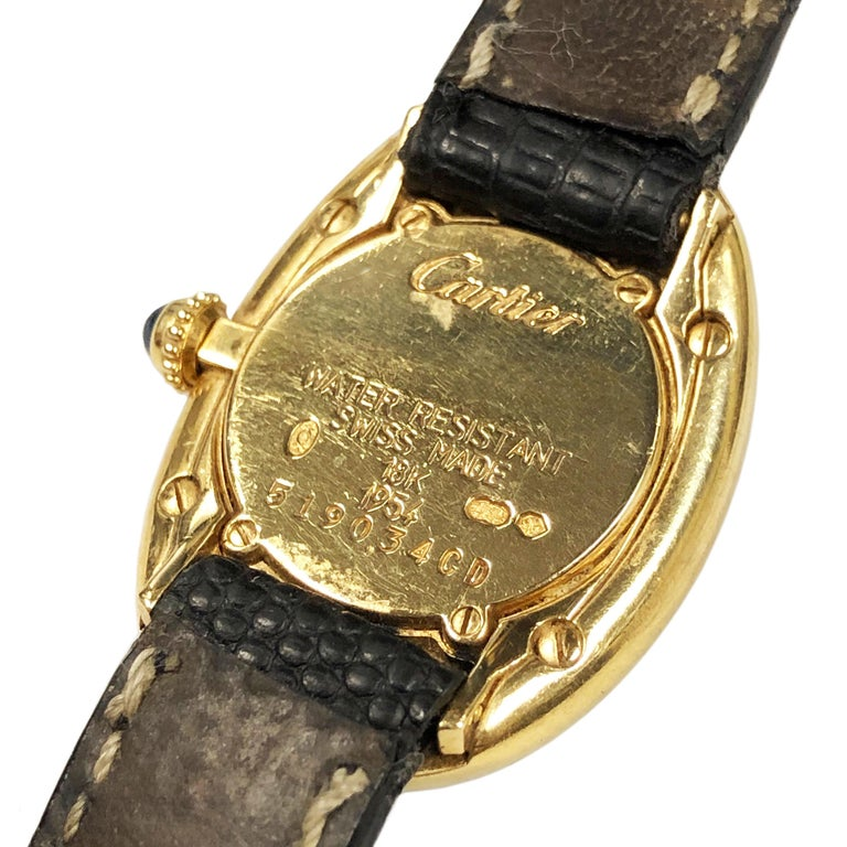 Cartier Baignoire Gold Wrist Watch Owned and Worn by Jerry Lewis For Sale 1