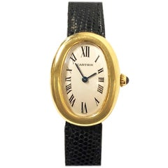 Cartier Baignoire Gold Wrist Watch Owned and Worn by Jerry Lewis