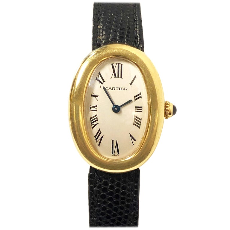 Cartier Baignoire Gold Wrist Watch Owned and Worn by Jerry Lewis For Sale