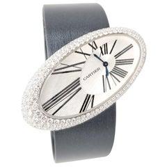 Cartier Baignoire Hypnose Diamond Ladies Watch on Satin Strap