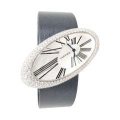 Cartier Baignoire Hypnose Diamond Ladies Watch on Satin Strap
