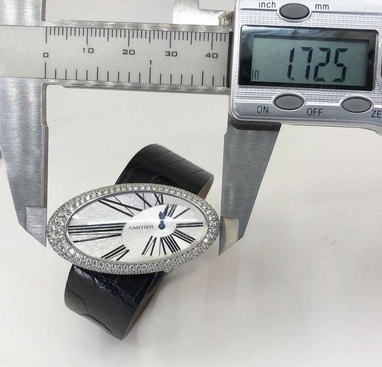 Women's Cartier Baignoire Hypnose Diamond Pearl Watch For Sale