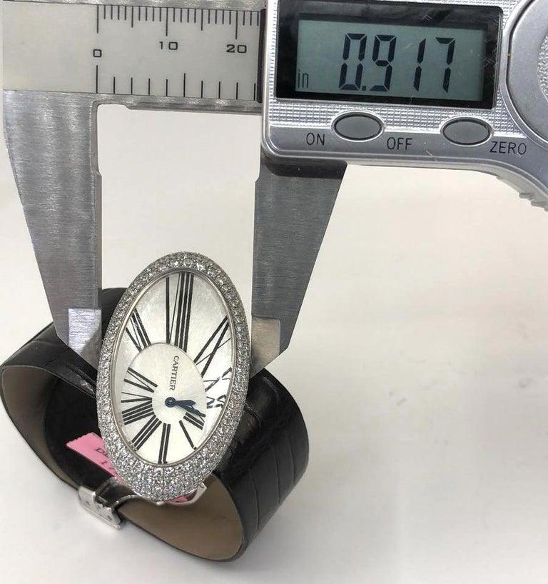 Cartier Baignoire Hypnose Diamond Pearl Watch For Sale 1