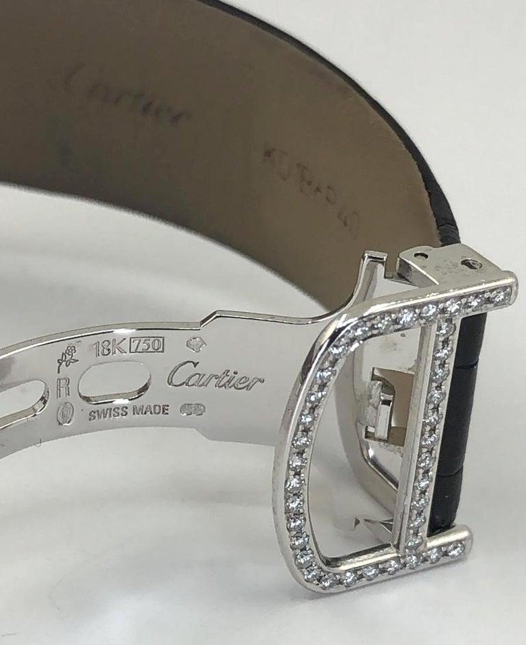 Cartier Baignoire Hypnose Diamond Pearl Watch For Sale 2