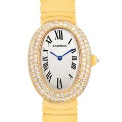 Cartier Baignoire Joaillerie 18 Karat Yellow Gold Diamond Ladies Watch, 1950