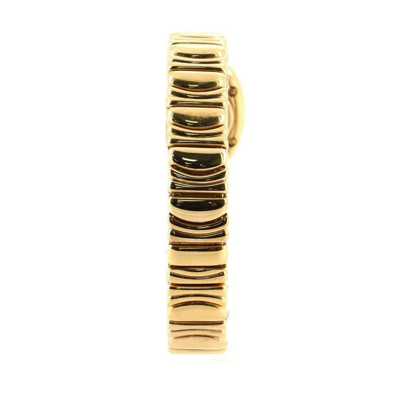 Cartier Baignoire Quartz Watch Yellow Gold 18 In Good Condition For Sale In New York, NY