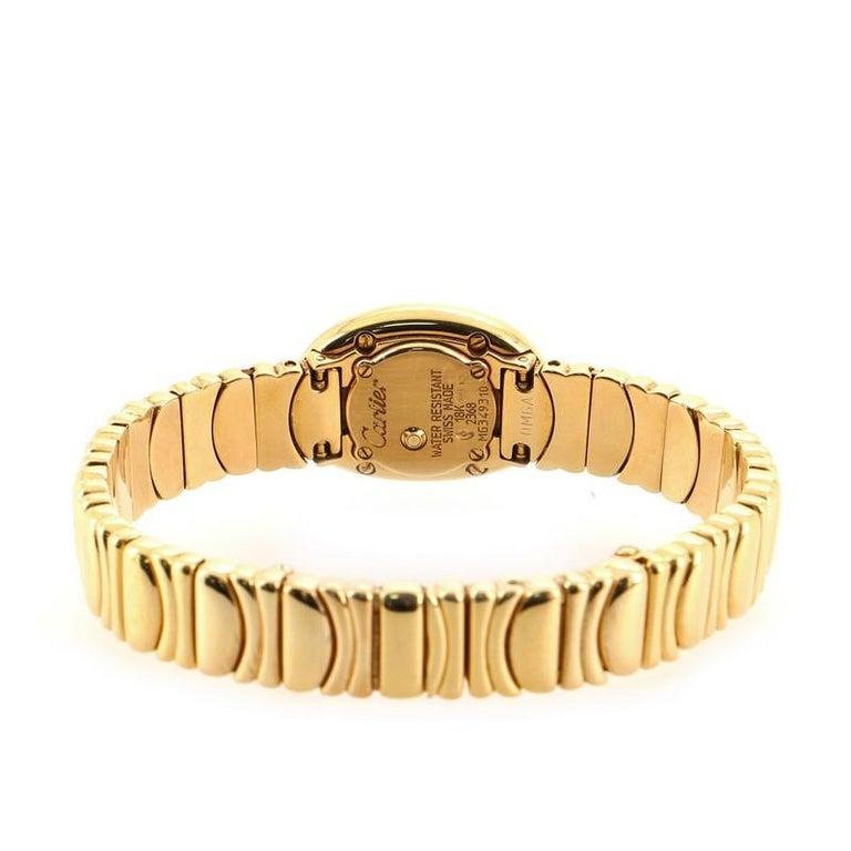 Cartier Baignoire Quartz Watch Yellow Gold 18 For Sale 1