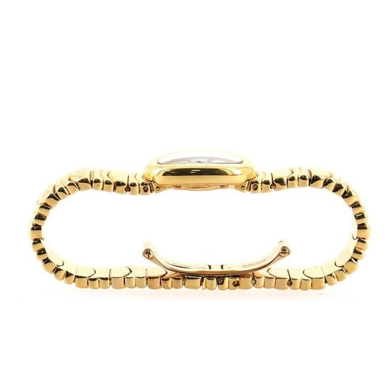Cartier Baignoire Quartz Watch Yellow Gold 18 For Sale 2