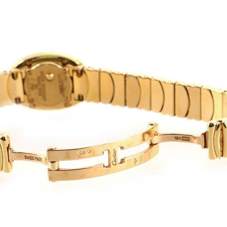 Cartier Baignoire Quartz Watch Yellow Gold 18 For Sale 3