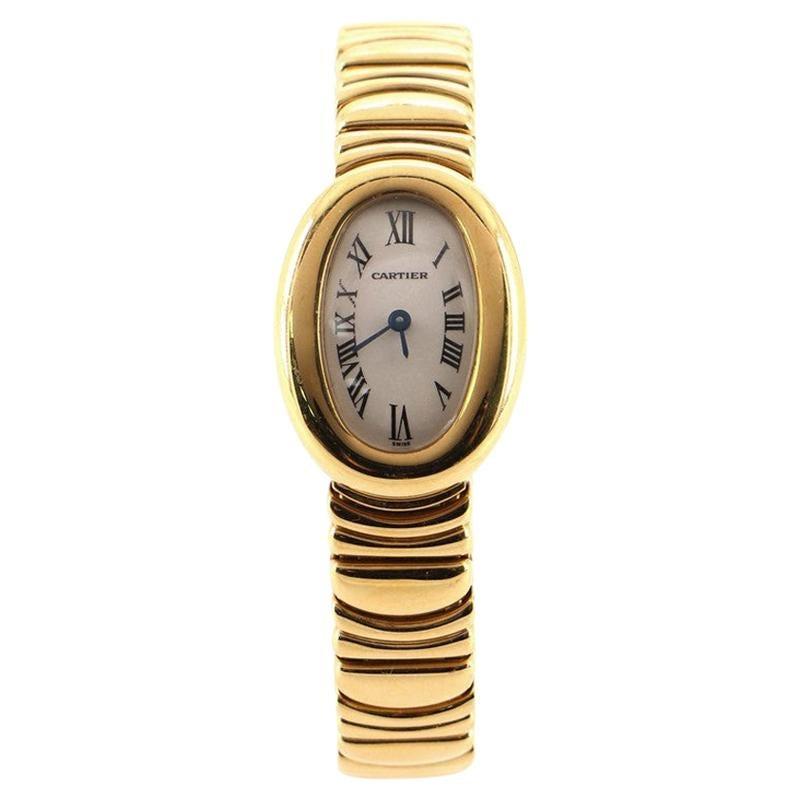 Cartier Baignoire Quartz Watch Yellow Gold 18