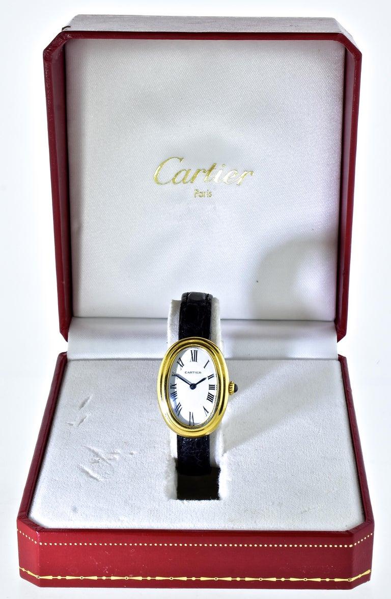 Cartier Baignoire Vintage Wristwatch, circa 1980 For Sale 6