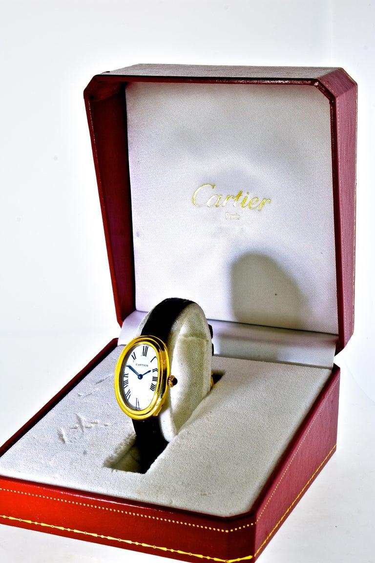Cartier Baignoire Vintage Wristwatch, circa 1980 For Sale 7