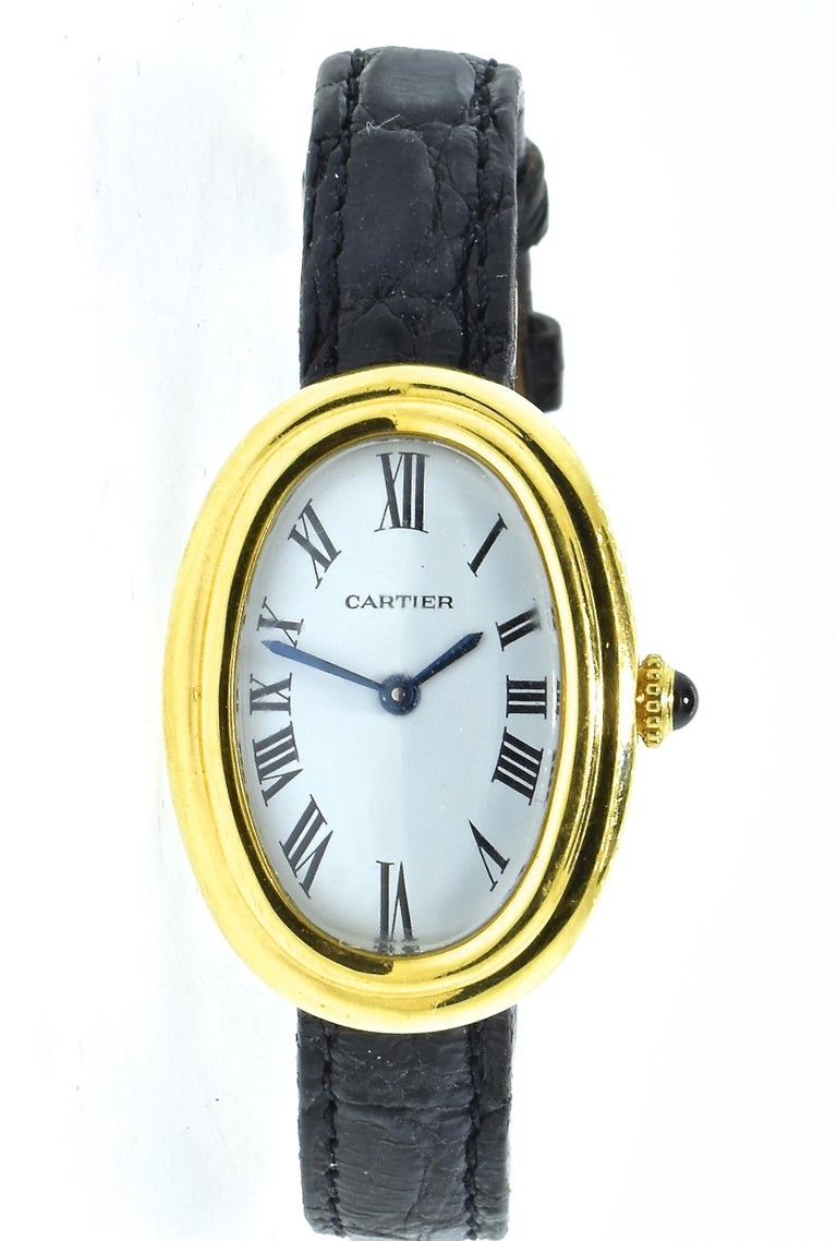Contemporary Cartier Baignoire Vintage Wristwatch, circa 1980 For Sale