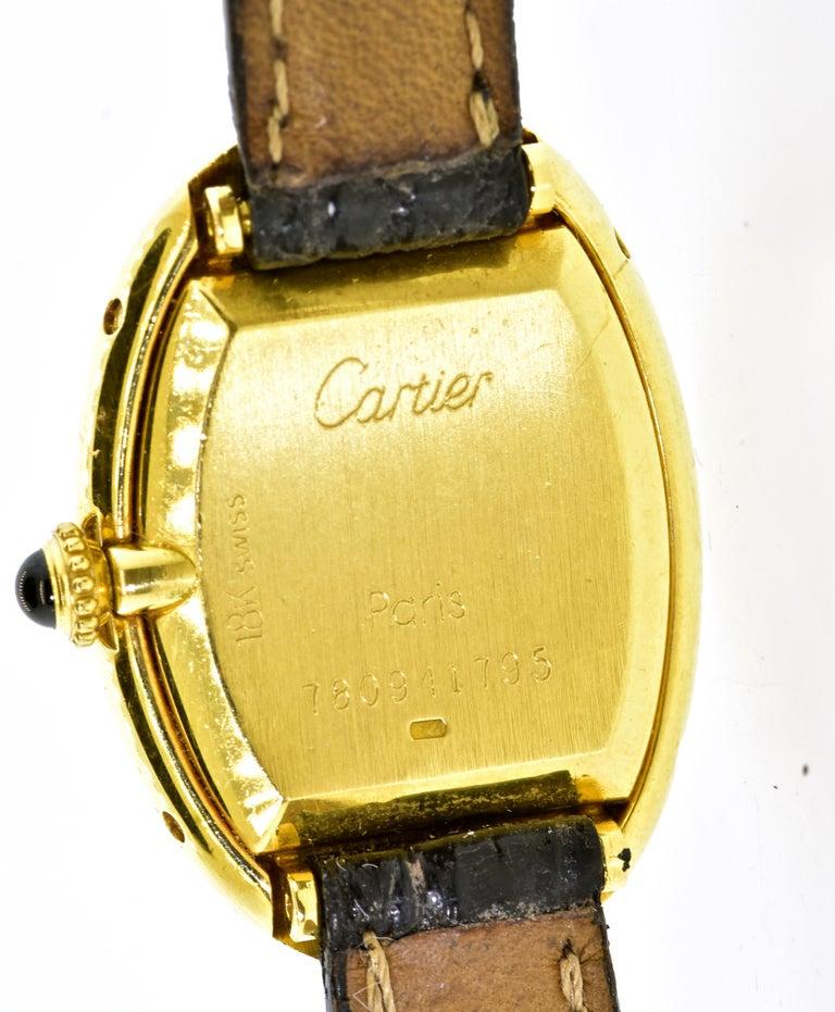 Women's or Men's Cartier Baignoire Vintage Wristwatch, circa 1980 For Sale