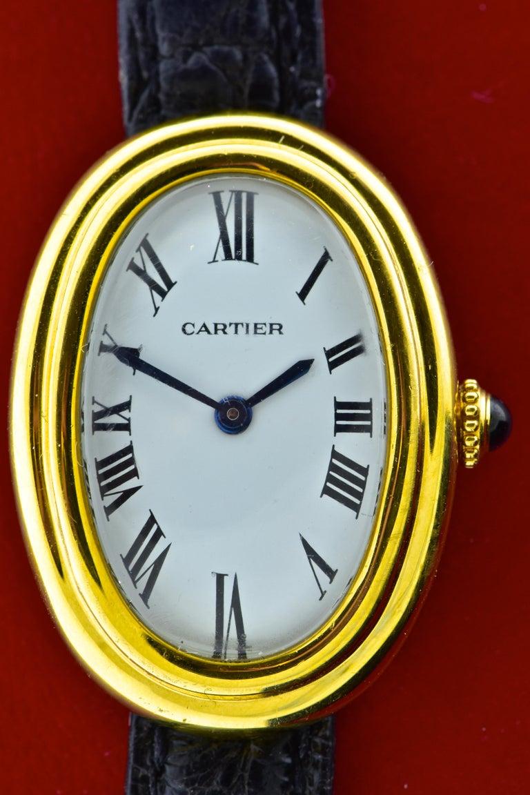 Cartier Baignoire Vintage Wristwatch, circa 1980 For Sale 1