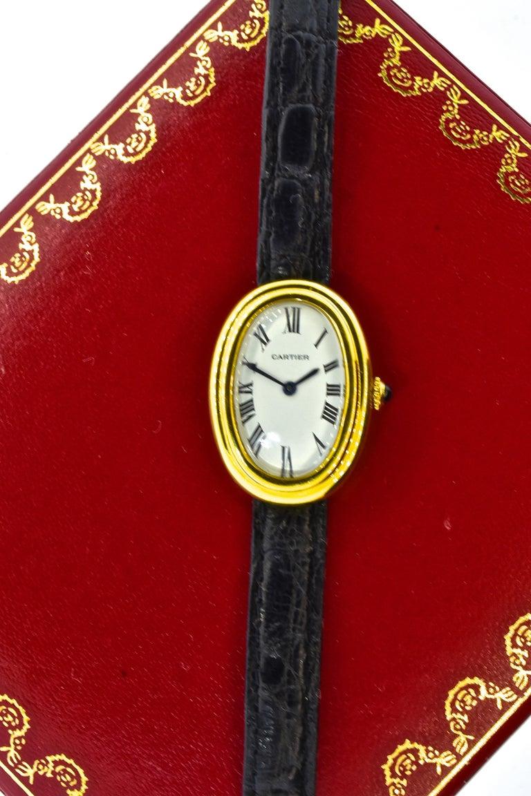 Cartier Baignoire Vintage Wristwatch, circa 1980 For Sale 2
