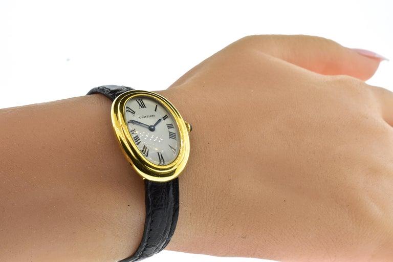Cartier Baignoire Vintage Wristwatch, circa 1980 For Sale 3
