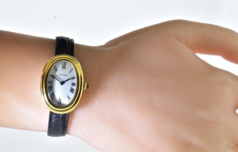 Cartier Baignoire Vintage Wristwatch, circa 1980 For Sale 4