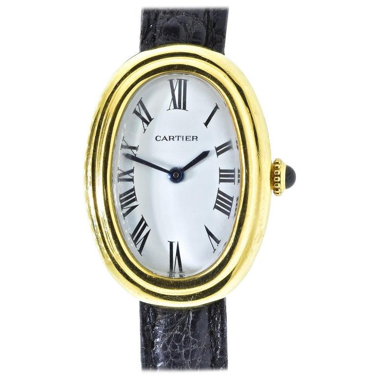 Cartier Baignoire Vintage Wristwatch, circa 1980 For Sale