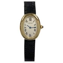 Cartier Baignoire Yellow Gold Quartz Ladies Wrist Watch