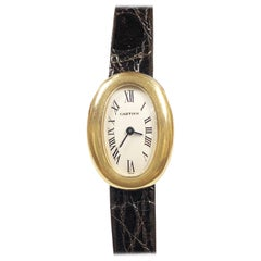 Cartier Baignoire Yellow Gold Quartz Wristwatch Owned and worn by Jerry Lewis