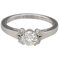 Cartier Ballerine .45 Carat F VVS1 Diamond Platinum Engagement Ring