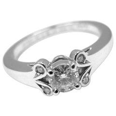 Cartier Ballerine Platinum Diamond Engagement Ring