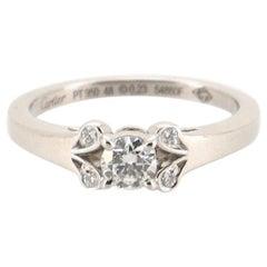 Cartier Ballerine Solitaire Ring Platinum with RBC Diamond D/VVS1 .23CT