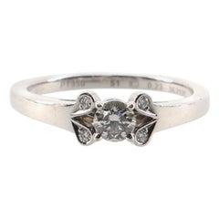 Cartier Ballerine Solitaire Ring Platinum with RBC Diamond E/VVS1 .23CT