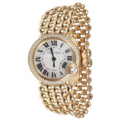 Cartier Ballon Blanc 18 Karat Rose Gold Diamond Bezel Mother of Pearl Dial Watch