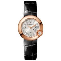 Cartier Ballon Blanc Quartz Movement Pink Gold and Diamond Watch WGBL0002