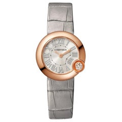 Cartier Ballon Blanc Quartz Movement Rose Gold and Diamond Watch WGBL0004