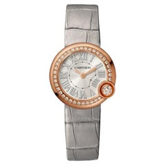 Cartier Ballon Blanc Quartz Movement Rose Gold and Diamond Watch WJBL0006