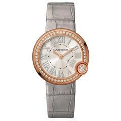 Cartier Ballon Blanc Quartz Movement Rose Gold and Diamond Watch WJBL0008