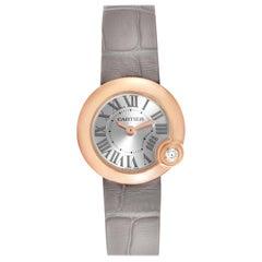 Cartier Ballon Blanc Rose Gold Diamond Ladies Watch WGBL0002 Box Card