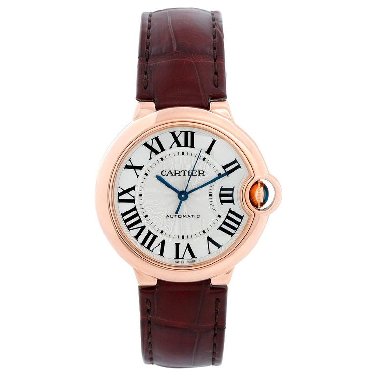 Cartier Ballon Bleu 18 Karat Rose Gold Ladies Midsize Watch WGBB0009