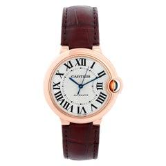 Cartier Ballon Bleu 18 Karat Rose Gold Ladies Midsize Watch WGBB0009