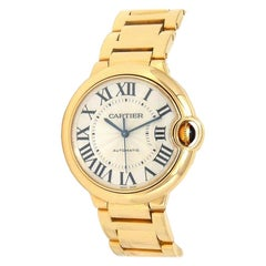 Cartier Ballon Bleu 18 Karat Yellow Gold Automatic Men's Watch W69003Z2