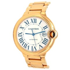 Cartier Ballon Bleu 18 Karat Yellow Gold Men's Watch Automatic W69005Z2